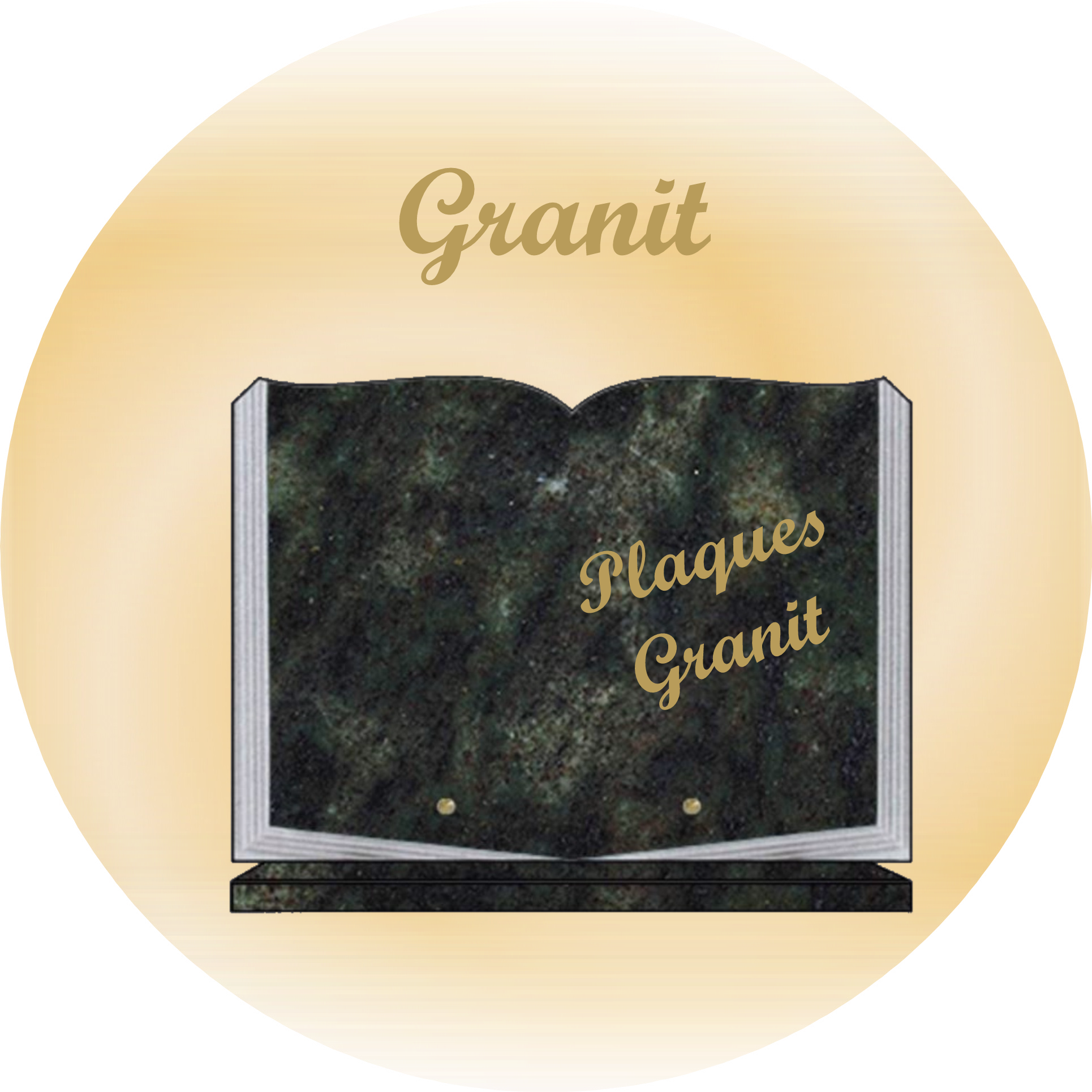 plaques funeraires granit GRAND-CORENT