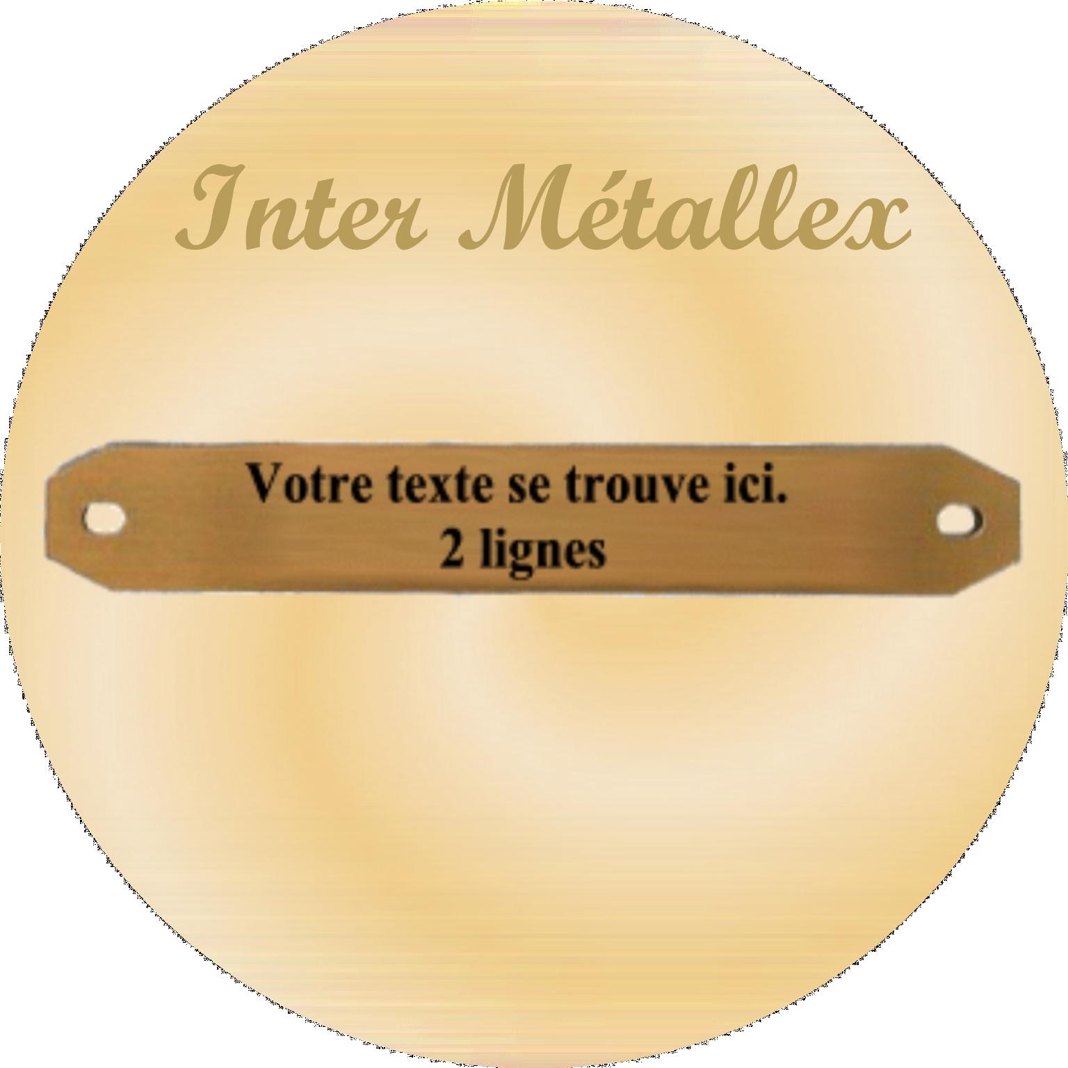 INTER metallex POUR PLAQUES FUNERAIRES