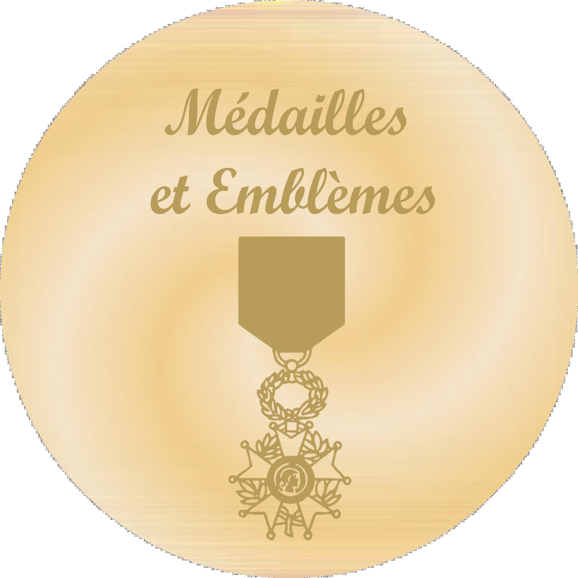 Médailles et Emblèmes - Plaques funéraires gravées or