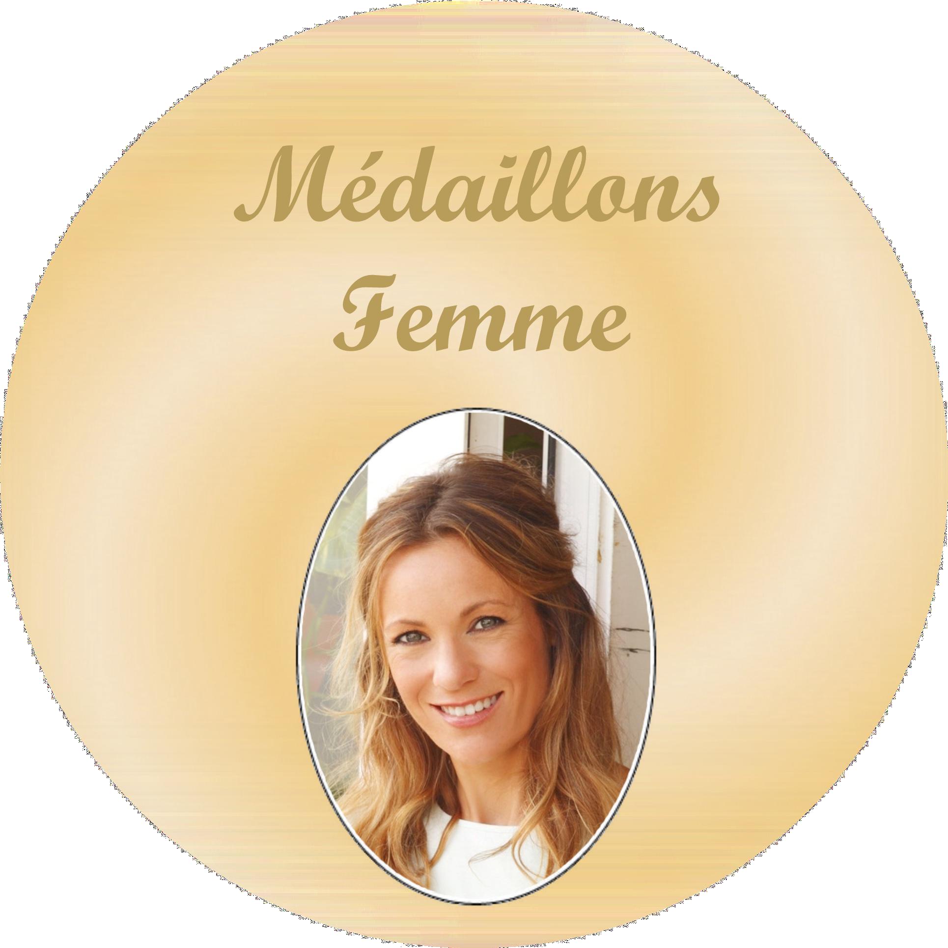 medaillon porcelaine femme