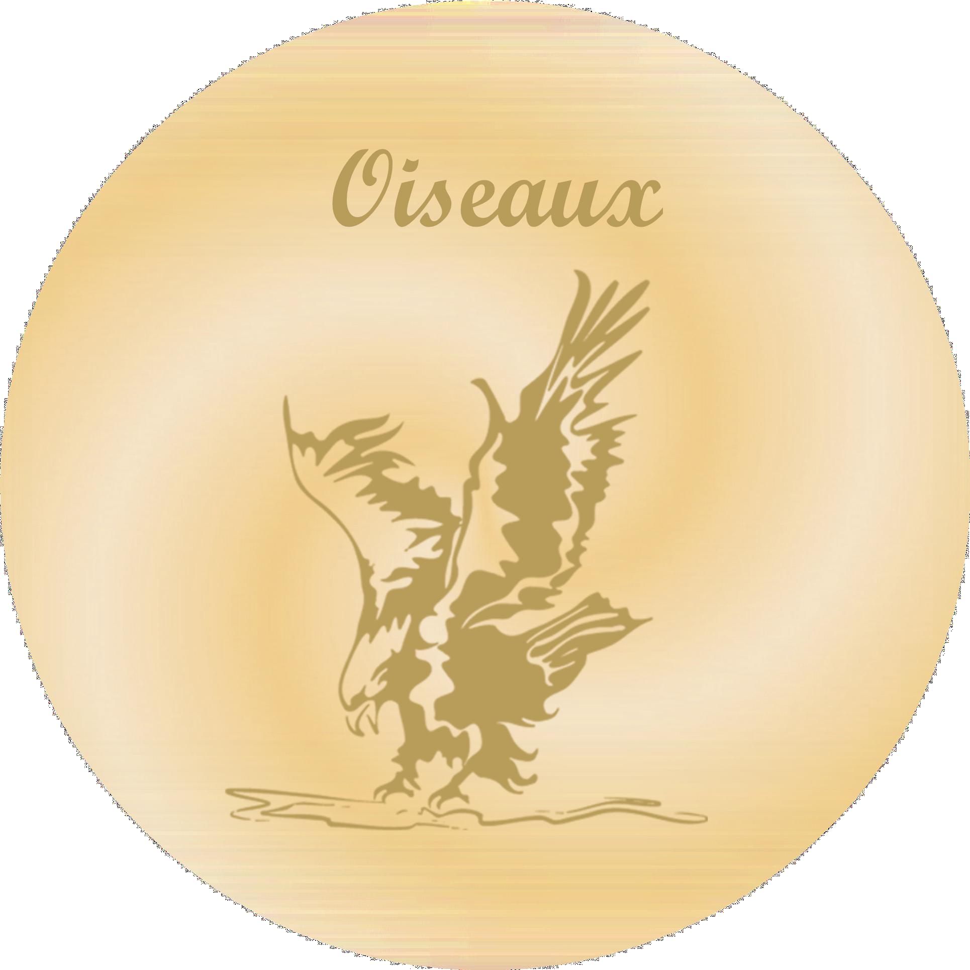 Oiseaux - Plaques funéraires gravées or