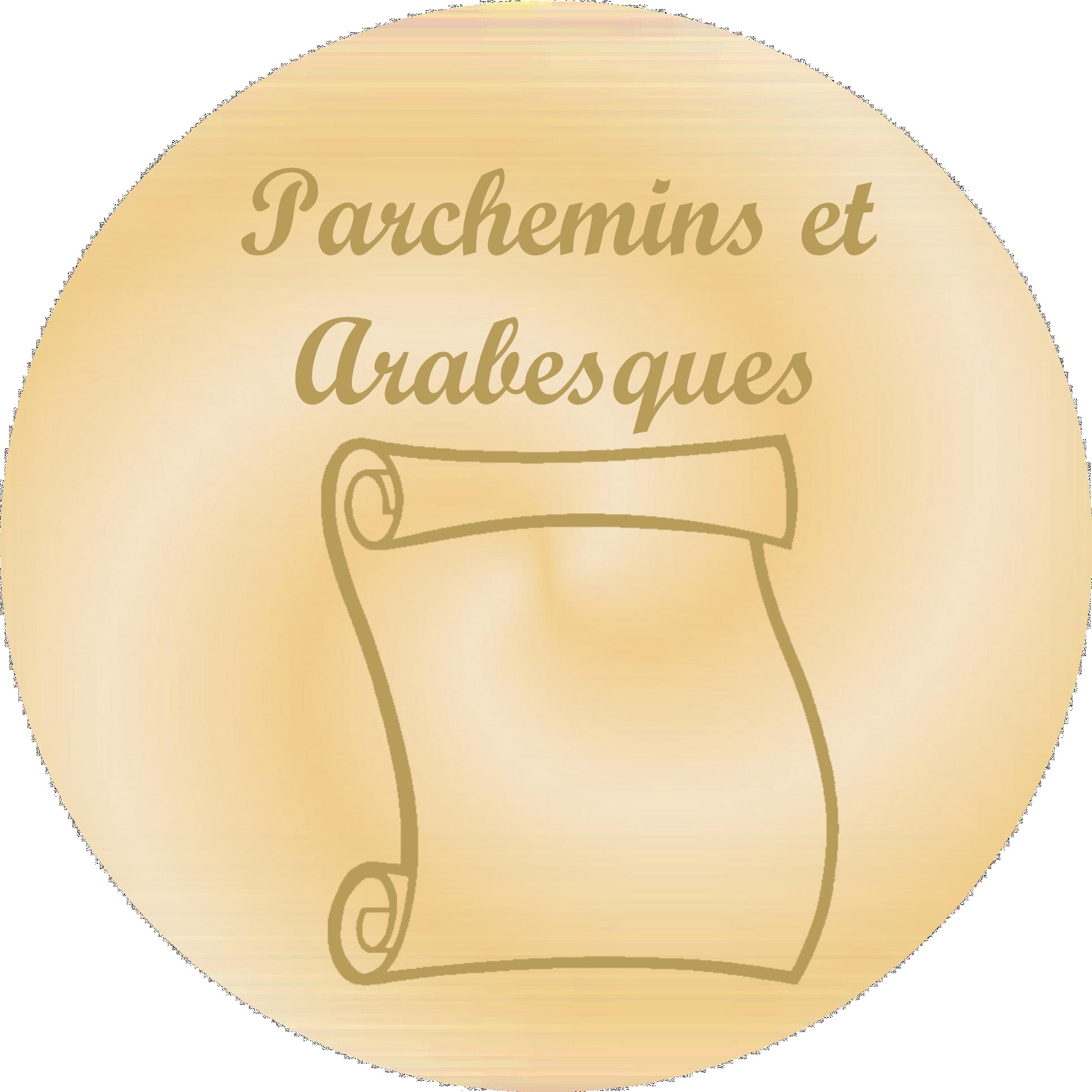 Parchemins et arabesques - Plaques funéraires gravées or
