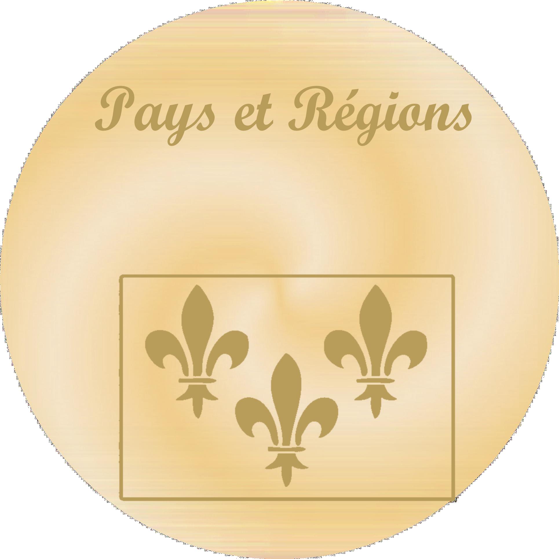 Pays et Régions - Plaques funéraires gravées or