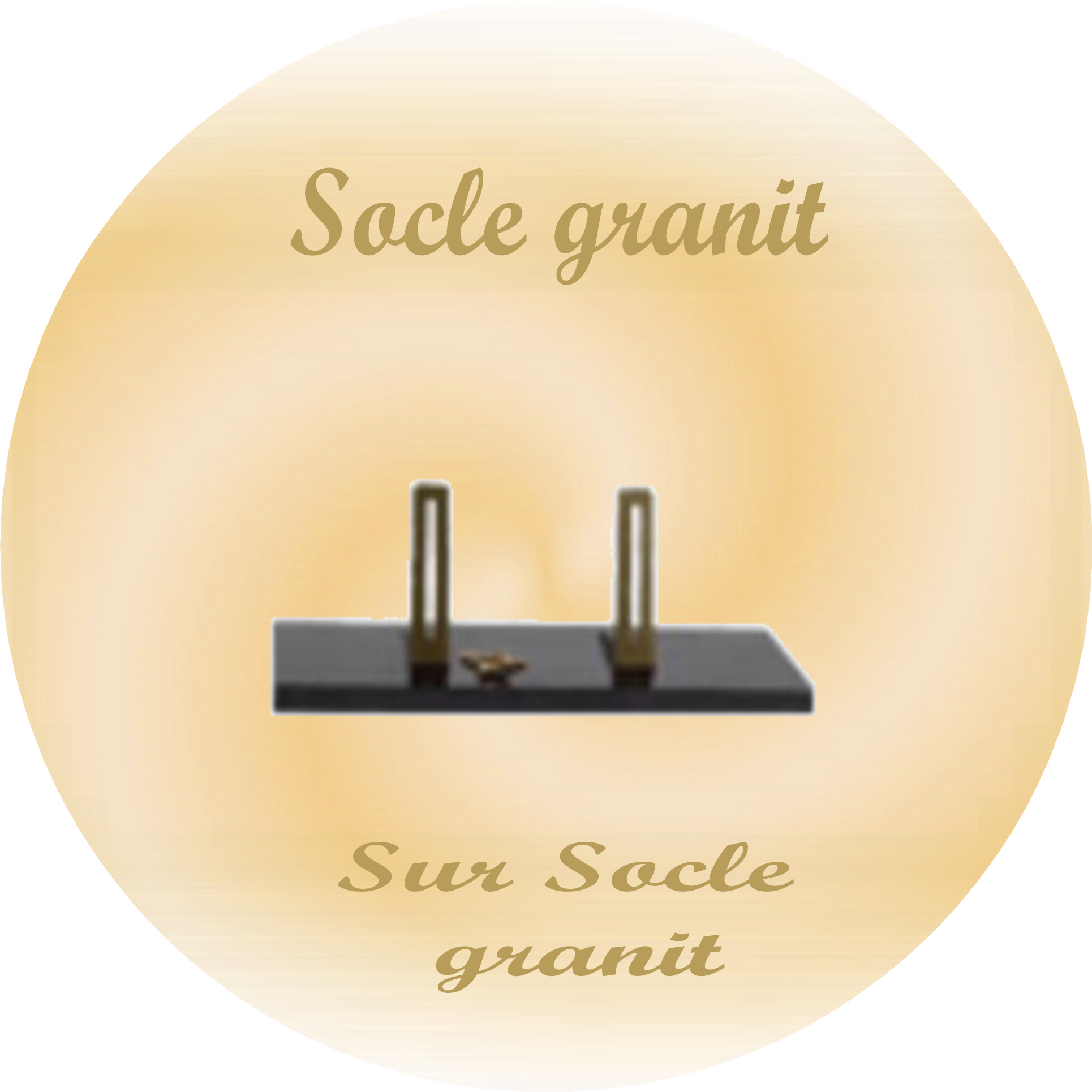 socle granit pour plaques funeraires