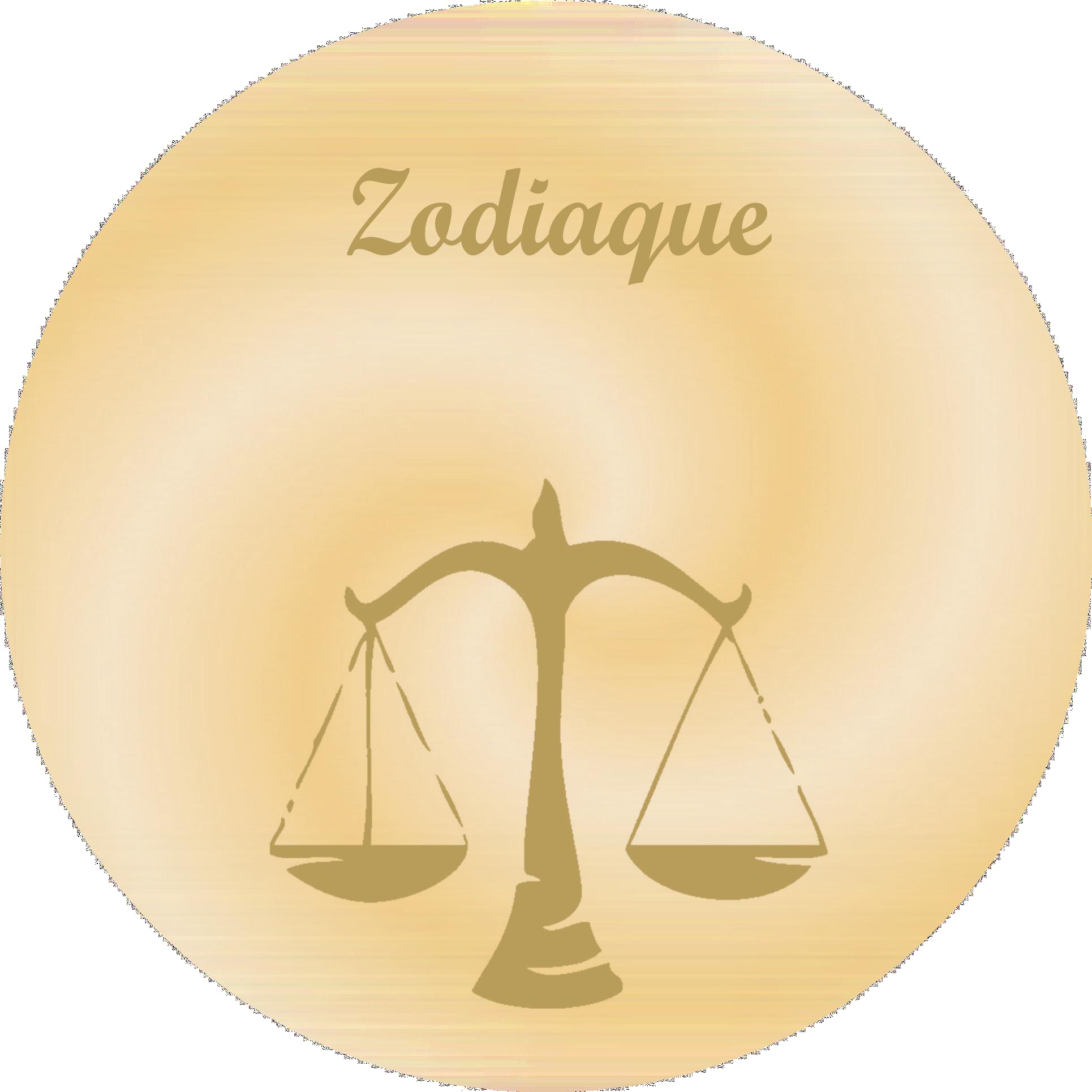 Zodiaque - Plaques funéraires gravées or