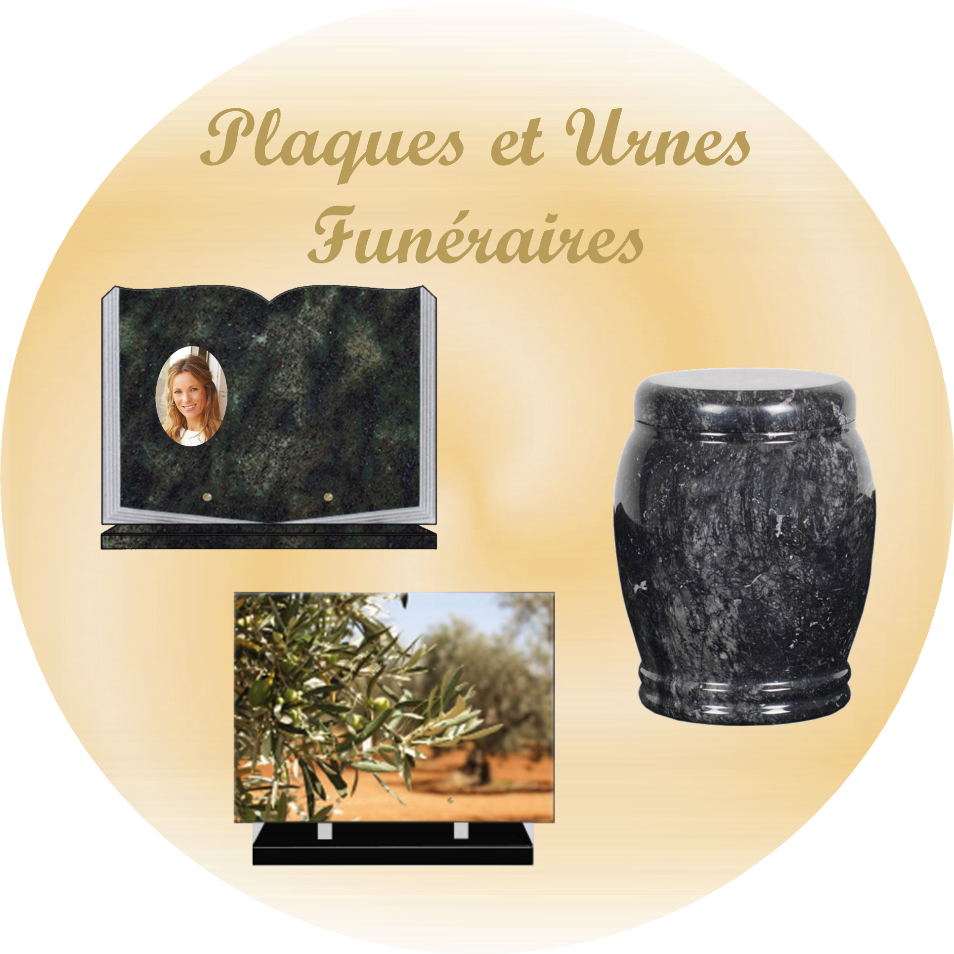 plaques et urnes funéraires LOZÈRE 48