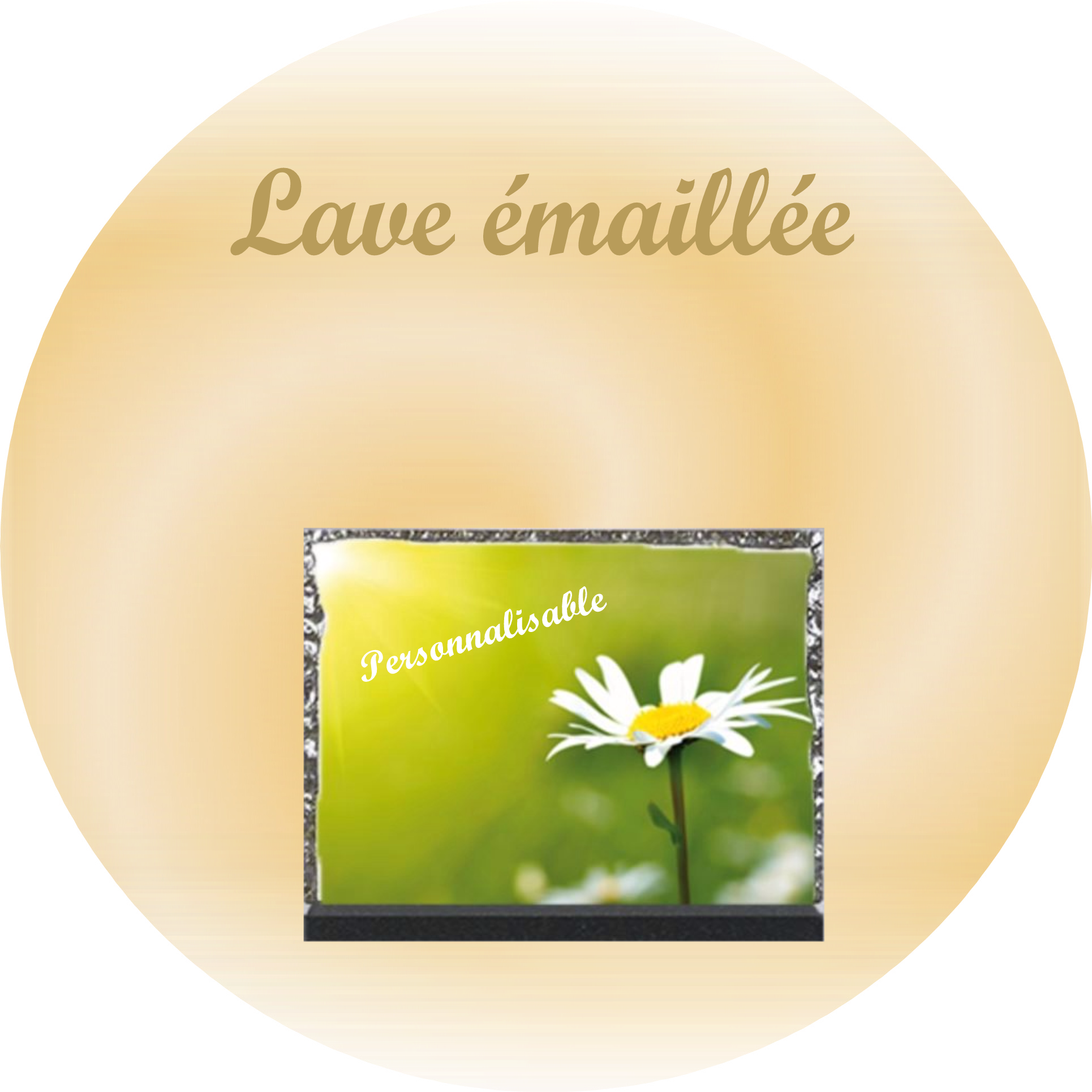 plaque lave emaillee personnalisable