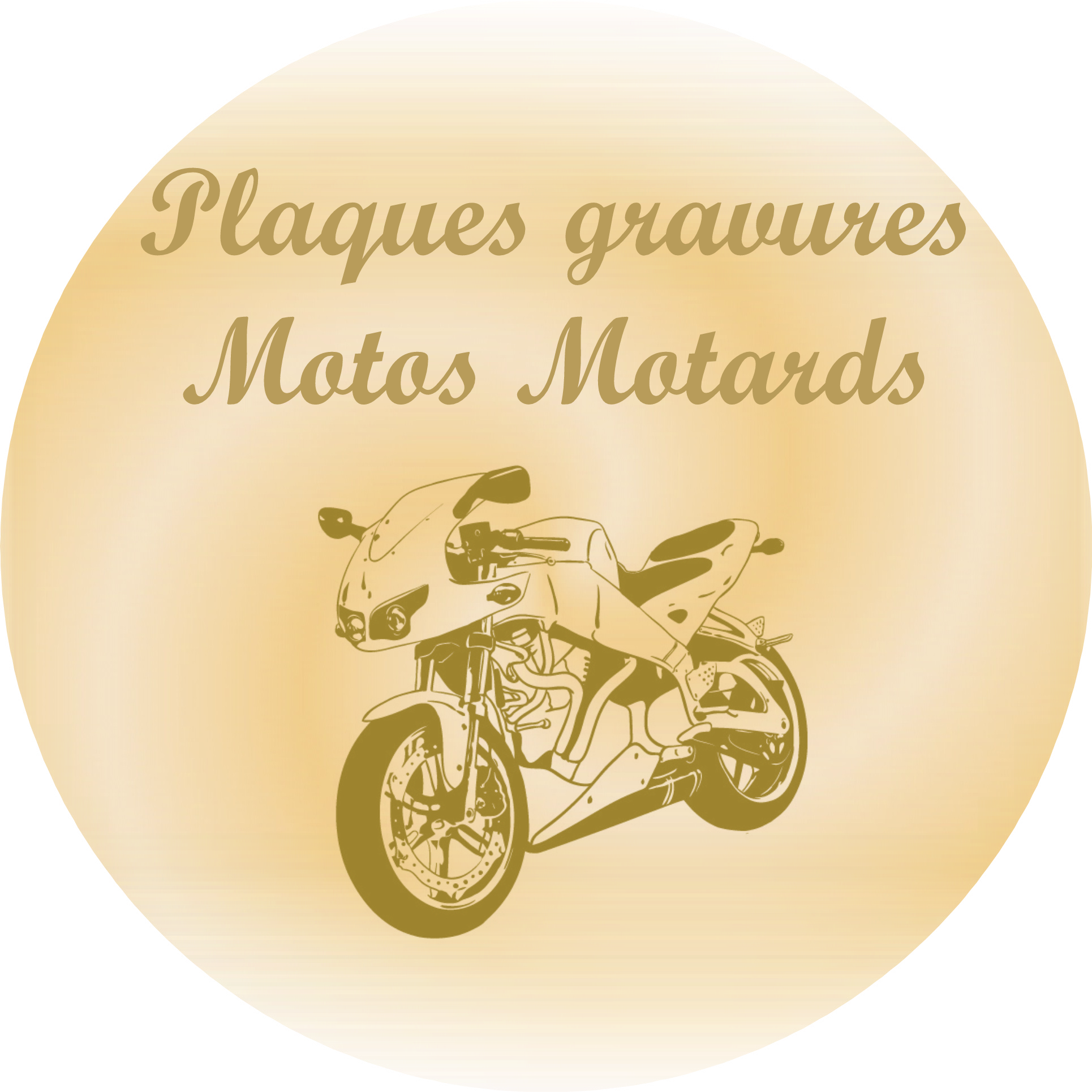 Motos Motards plaques funeraires gravees or
