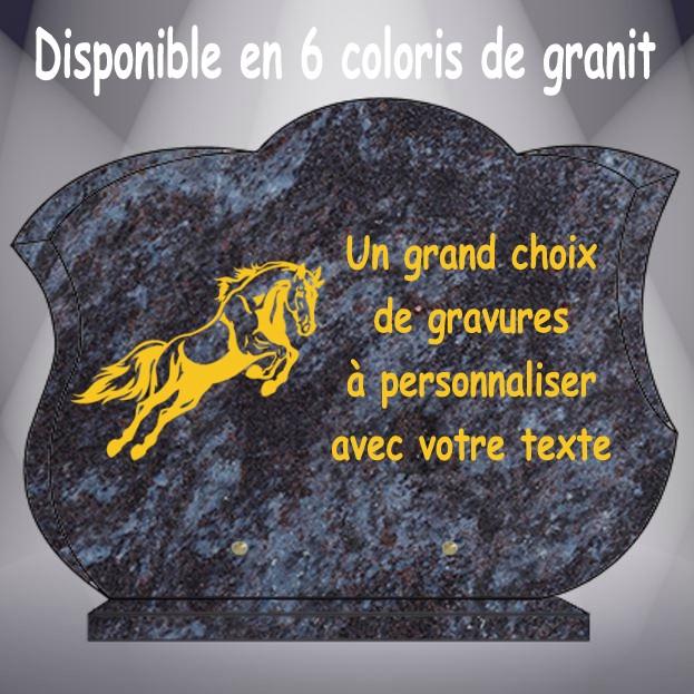 PLAQUE FUNÉRAIRE ANIMAUX CG14 40X30 SOCLE