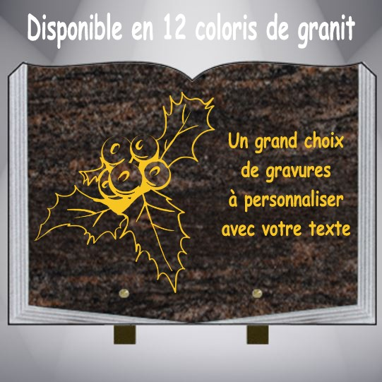 PLAQUE FUNÉRAIRE ARBRE CG06 LIVRE PIEDS ALU