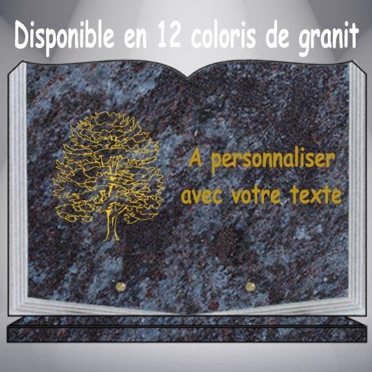 plaque funéraire granit ARBRE personnalisable pas cher