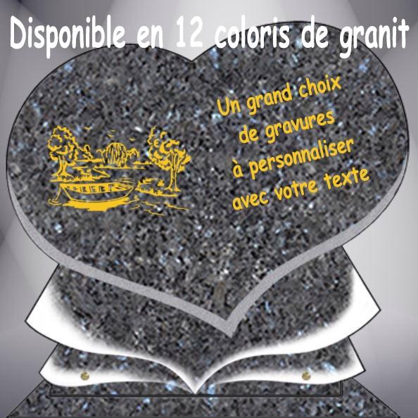 PLAQUE FUNÉRAIRE CAMPAGNE COEUR CG11