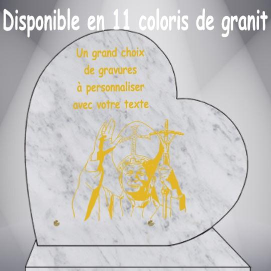 PLAQUE FUNÉRAIRE COEUR CÉLÉBRITÉS CG0910 SOCLE