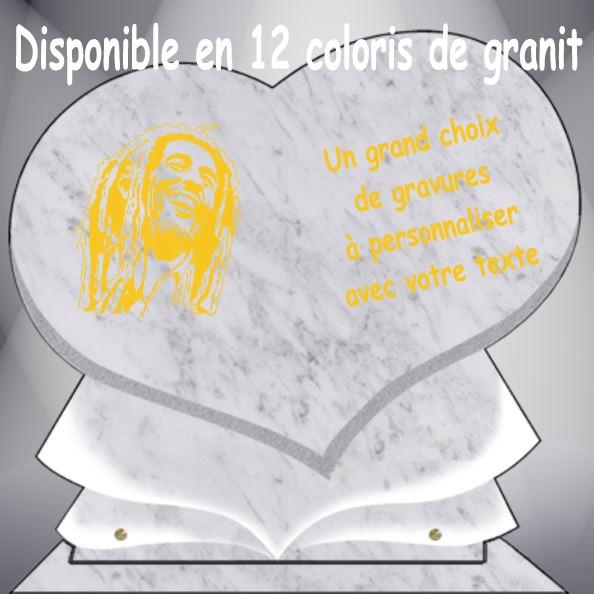 PLAQUE FUNÉRAIRE CÉLÉBRITÉS COEUR CG11