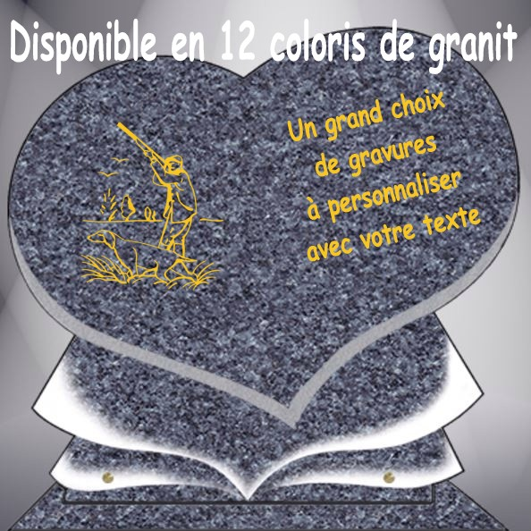 PLAQUE FUNÉRAIRE CHASSE COEUR CG11