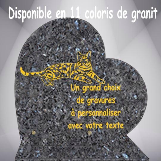 PLAQUE FUNÉRAIRE COEUR CHATS CG0910 SOCLE