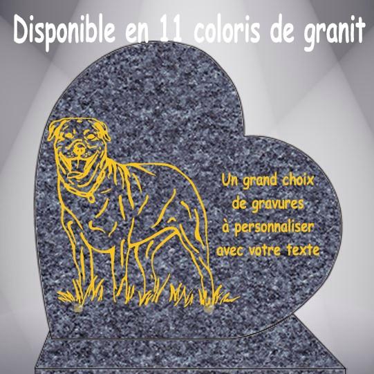 PLAQUE FUNÉRAIRE COEUR CHIENS CG0910 SOCLE