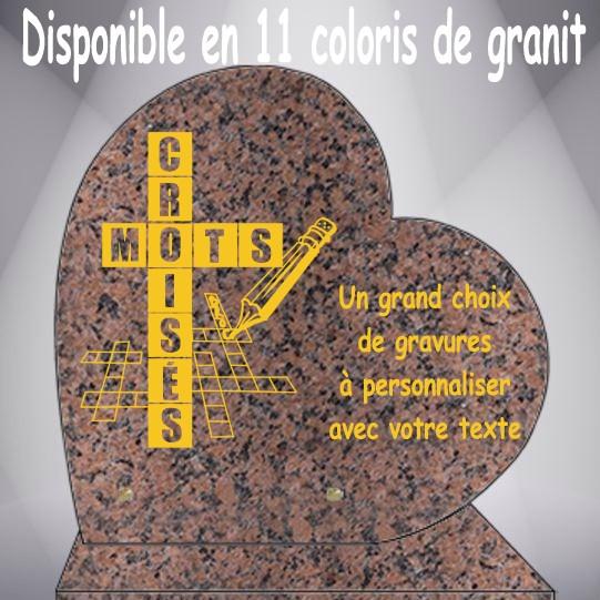 PLAQUE FUNÉRAIRE LOISIRS COEUR CG0910 SOCLE
