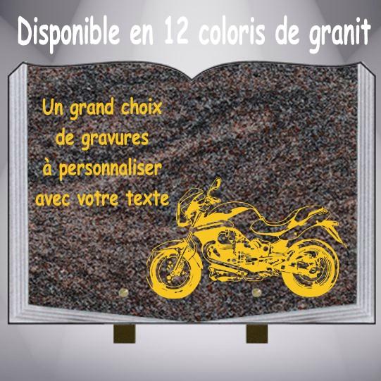 4fc5d7c4600 PLAQUE FUNÉRAIRE MOTOS LIVRE PIEDS ALU