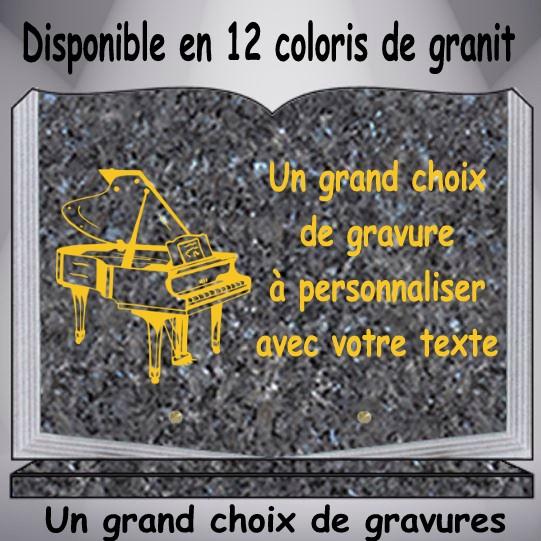 plaque granit musicien