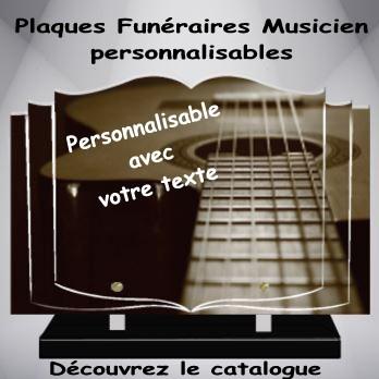 plaque funeraire moderne musique musicien
