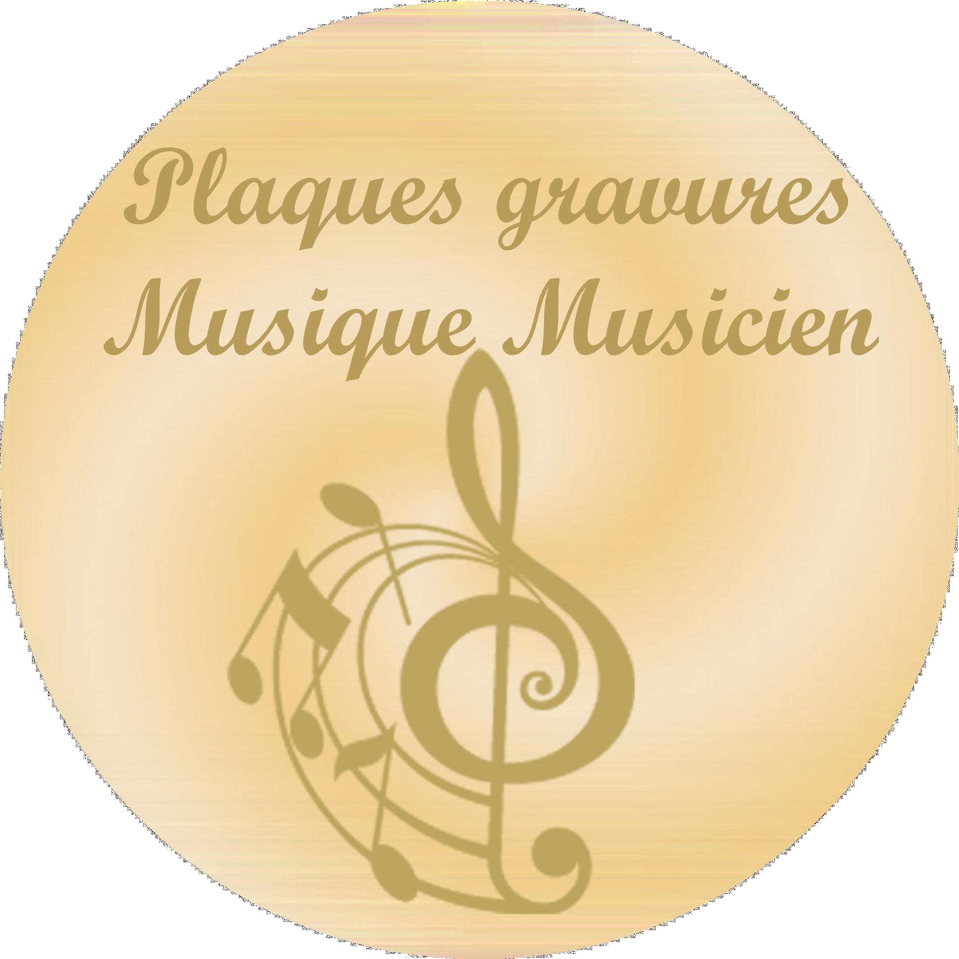 Musique Musicien - Plaques funéraires gravées or