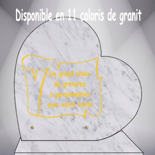 PLAQUE FUNÉRAIRE PARCHEMINS ARABESQUES CŒUR CG0910 SOCLE