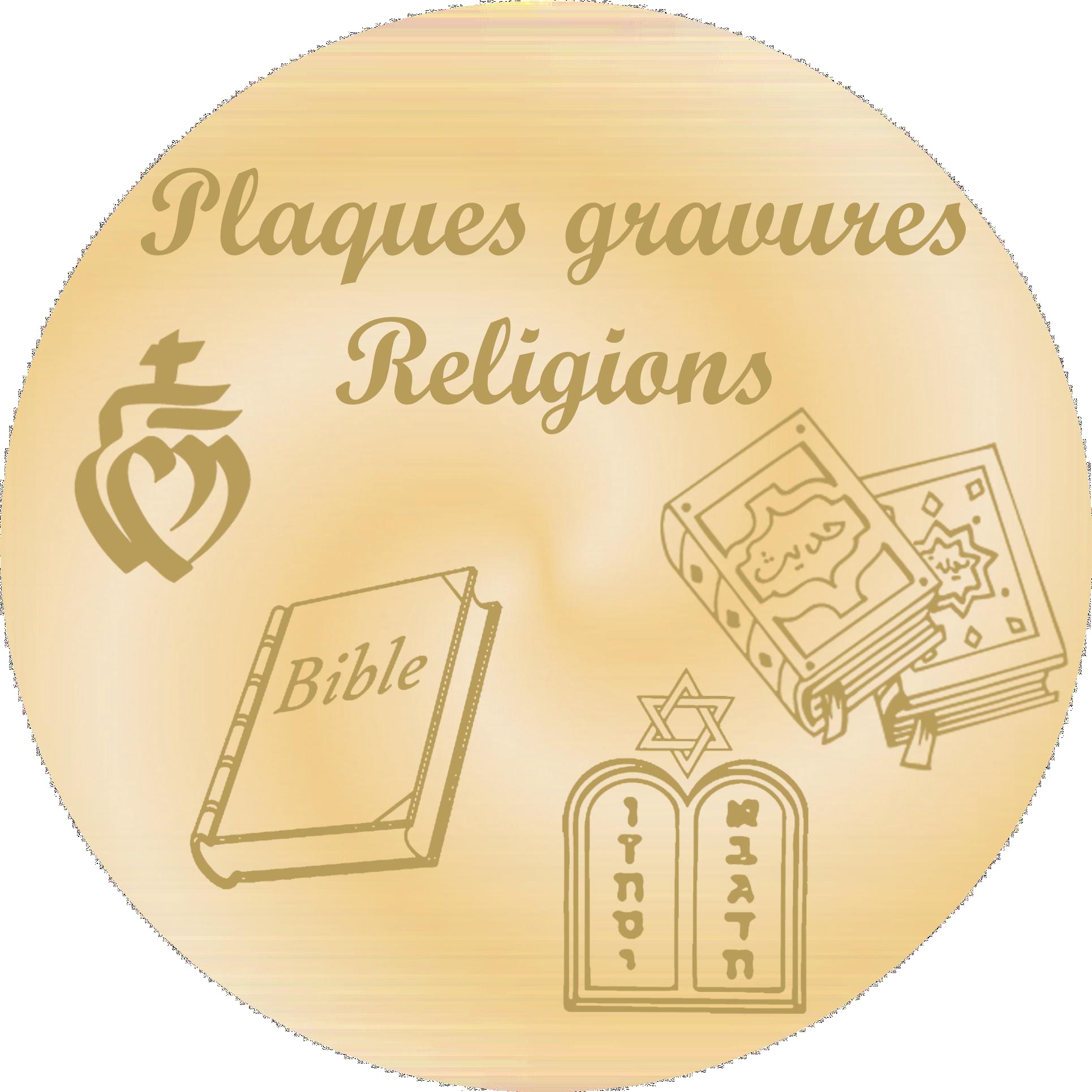 religions - Plaques funéraires gravées or