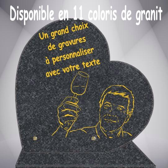 PLAQUE FUNÉRAIRE VIGNE CŒUR CG0910 SOCLE