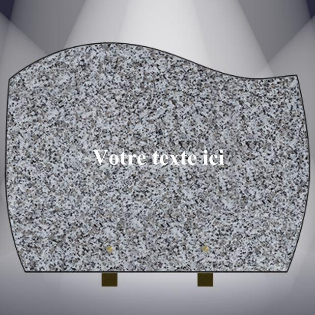 plaque funéraire granit TEXTE -CG13 40X30 PIEDS ALU TARN