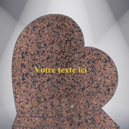 plaque funéraire granit TEXTE CG09 30X30 SOCLE ROSE CLARTE
