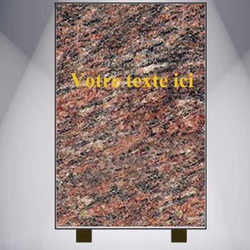 plaque funéraire granit personnalisable pas cher