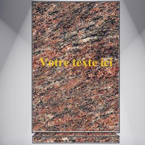 plaque funéraire granit personnalisable AVEC TEXTE ET MEDAILLON
