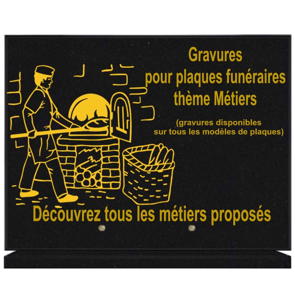Métiers - Plaques funéraires gravées or