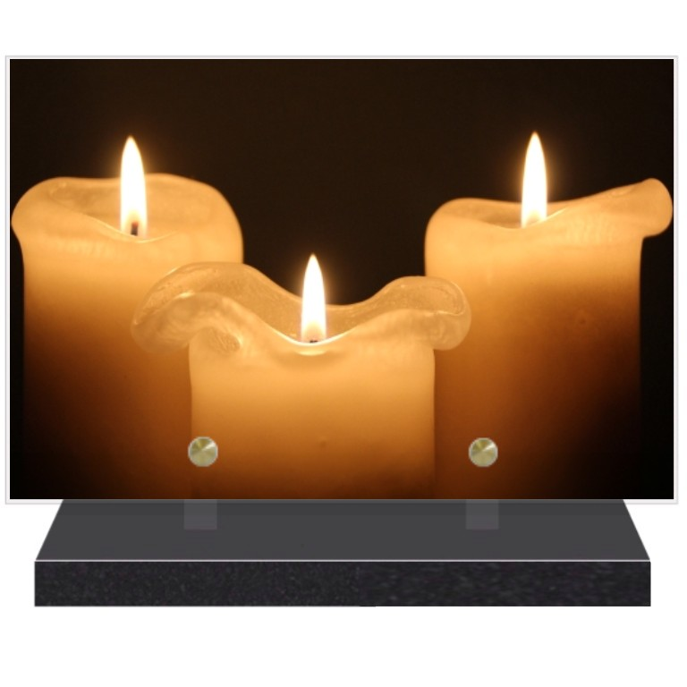Bougies Plaques funéraires bougies