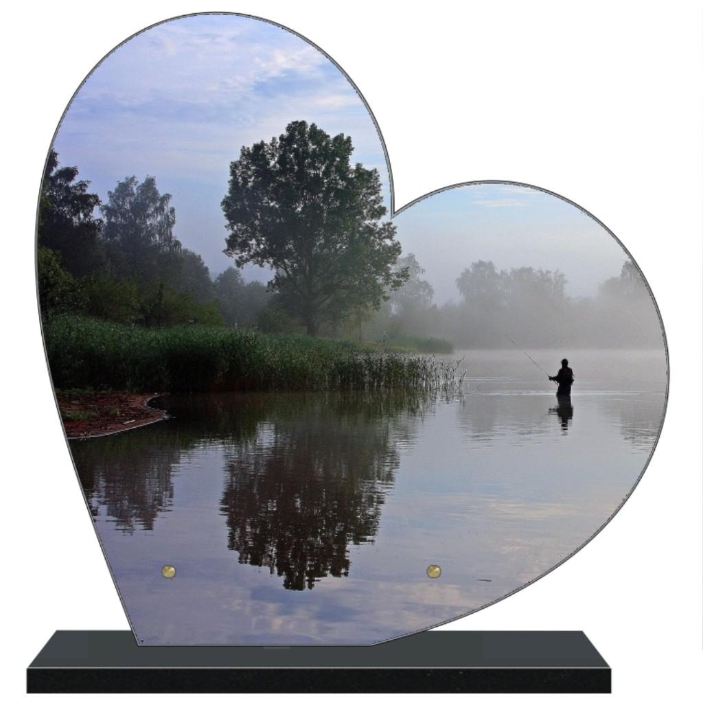 Grand coeur Plaque funéraire en forme de grand coeur