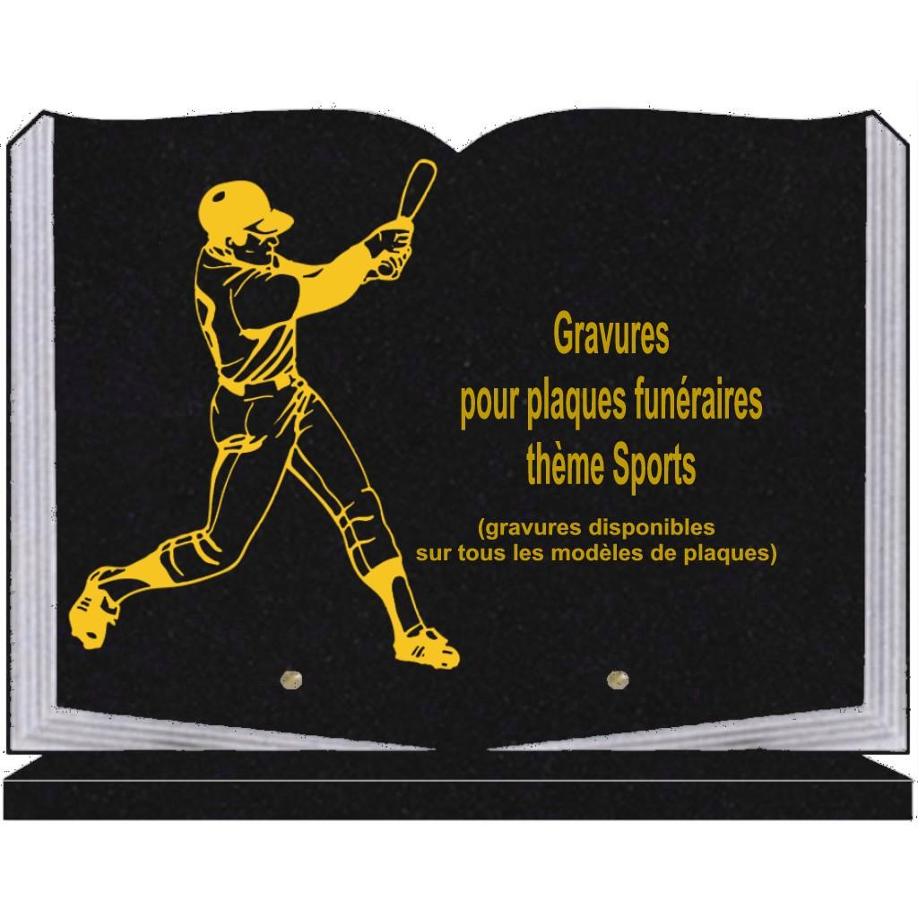 Sports - Plaques funéraires gravées or