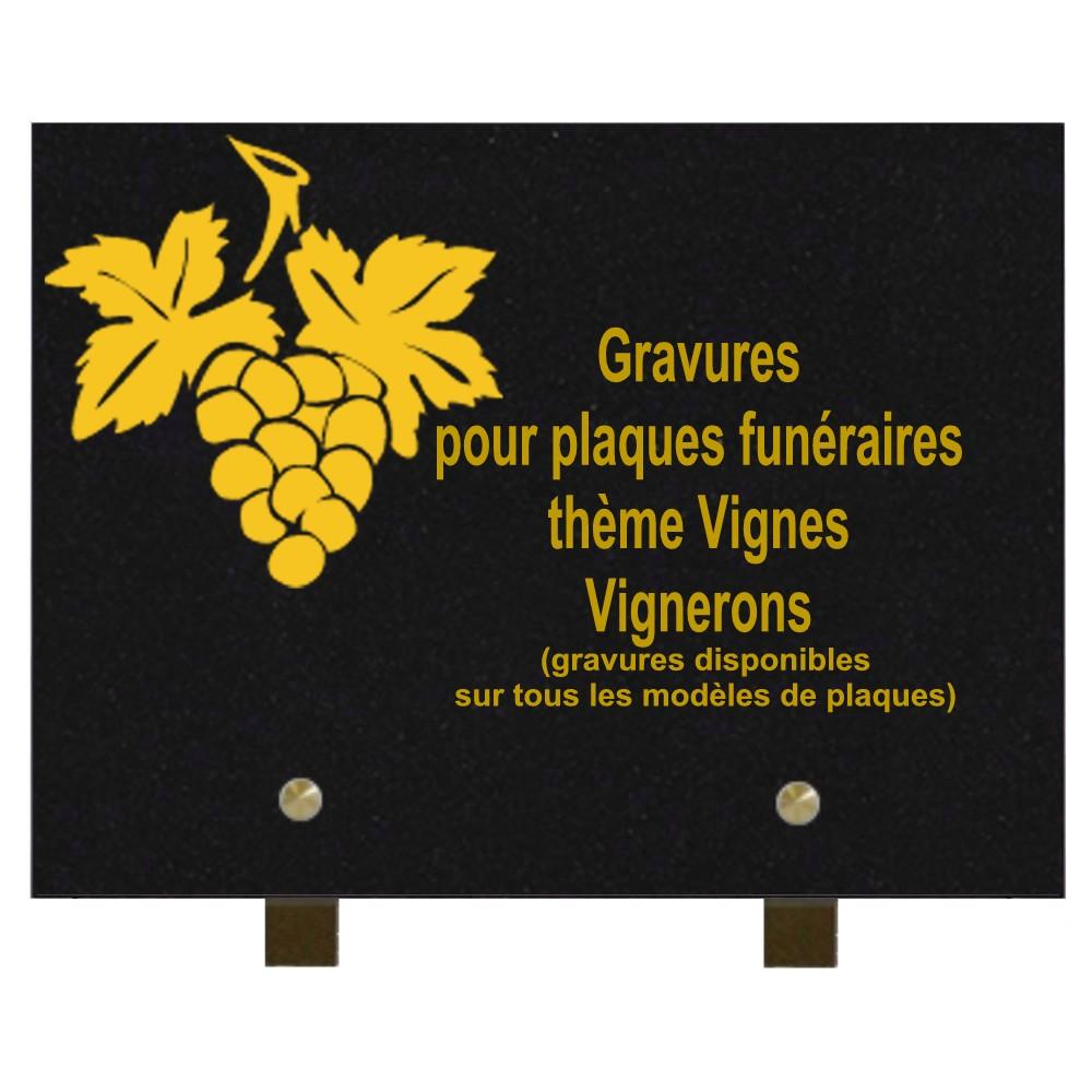 Vigne Vigneron - Plaques funéraires gravées or
