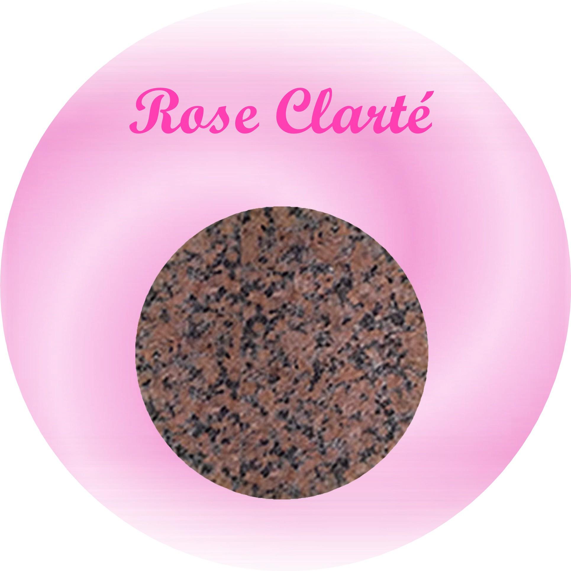 rose clarté plaque funéraire granit