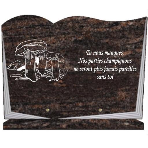 Champignons - Plaques funéraires gravées or