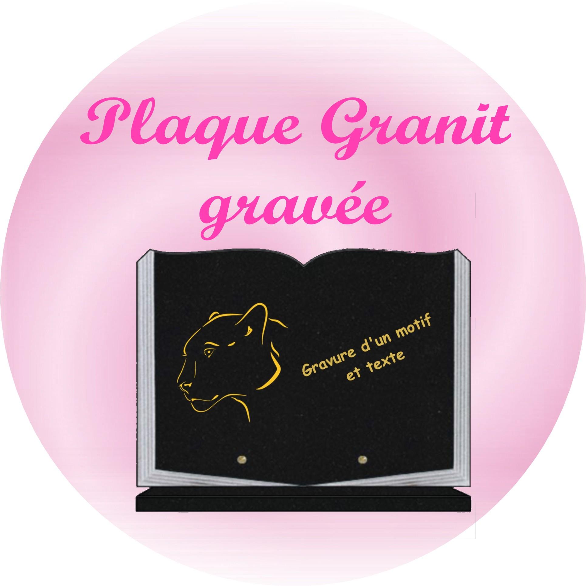 PLAQUE GRANIT GRAVÉE plaque funeraire