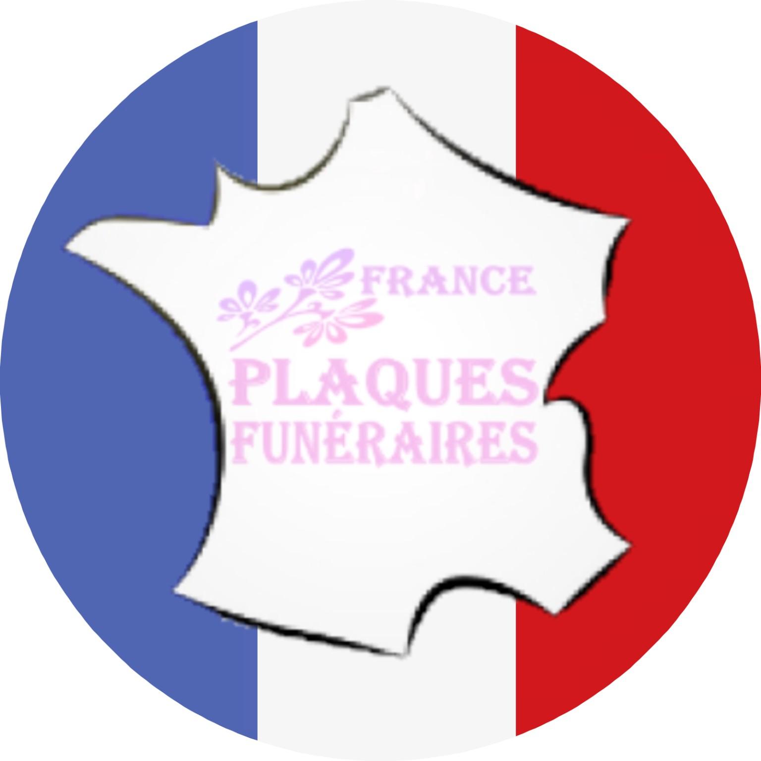 plaque funéraire fabriquée en France
