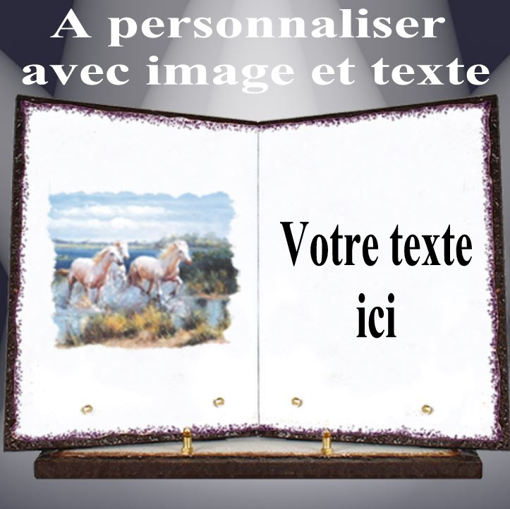 plaque funeraire lave emaillee personnalisable